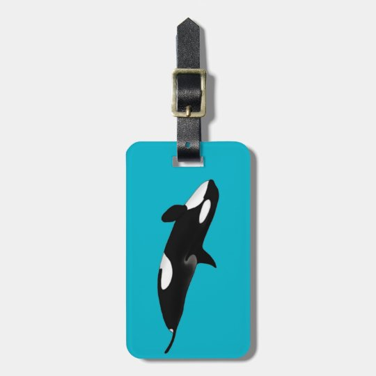 Killerwhale , Orcinus orca ラゲッジタグ