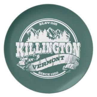 Killingtonの古い円の白 プレート