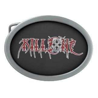 KILLZONEバンドロゴの楕円形のベルトの留め金 卵形バックル