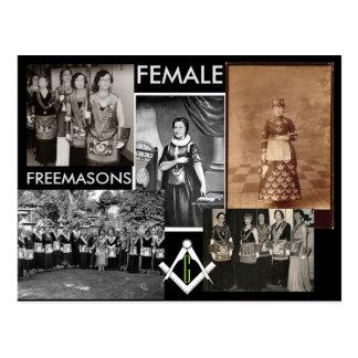 Kimball Cottam.著女性のフリーメーソン会員|の混合メディア ポストカード
