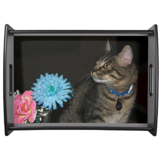 Kimberの子猫の花柄のトレイ トレー