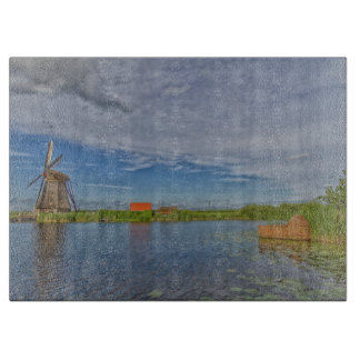 Kinderdijkの世界遺産の風車 カッティングボード