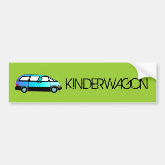 KINDERWAGONのバンパーステッカー バンパーステッカー