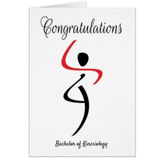 Kinesiologyの独身のためのお祝い グリーティングカード