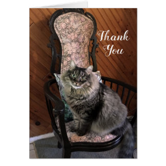 King Cat Kimber Thank You Note Card カード