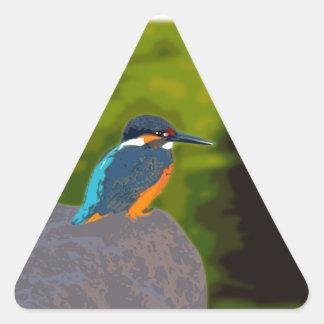 kingfisher 三角形シール