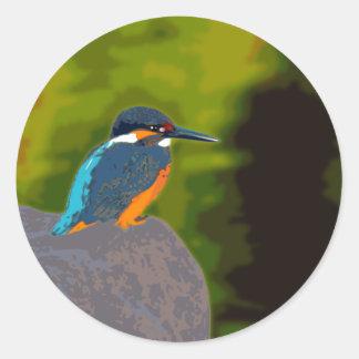 kingfisher 丸形シールステッカー