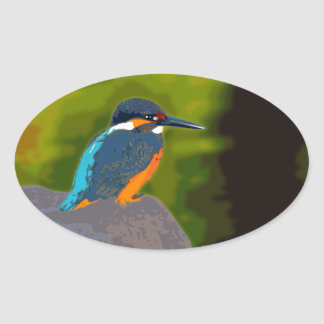 kingfisher 卵形シール・ステッカー