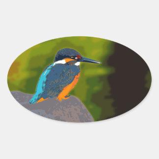 kingfisher 楕円形シール