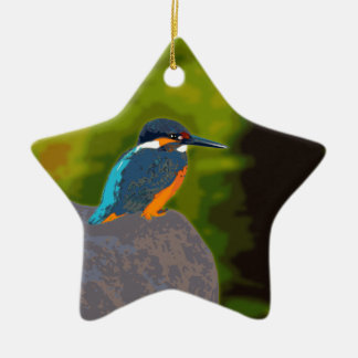 kingfisher 陶器製星型オーナメント