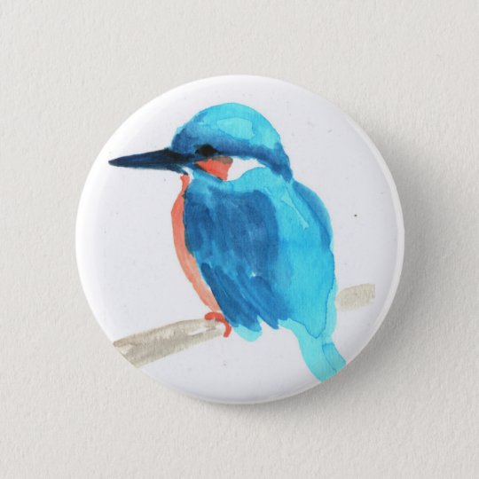 Kingfisher Button Badges 5.7cm 丸型バッジ