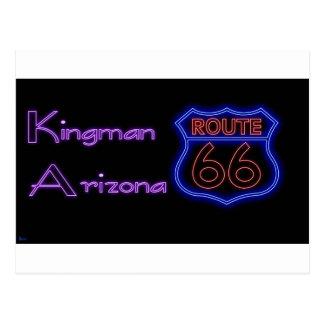Kingmanアリゾナのネオンルート66の盾 ポストカード
