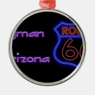 Kingmanアリゾナのネオンルート66の盾 メタルオーナメント