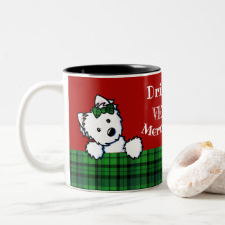KiniArtのクリスマスWesties ツートーンマグカップ