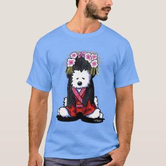 KiniArtの芸者のWestie犬 Tシャツ