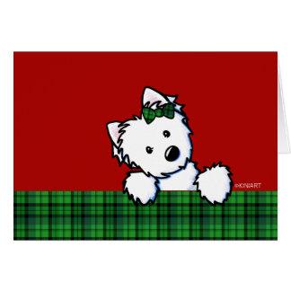 KiniArt Westieのクリスマスカード カード
