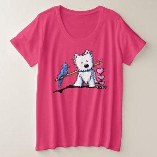 KiniArt Westieの心の琴線 プラスサイズTシャツ