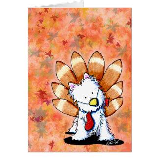 KiniArt Westieの感謝祭カード カード