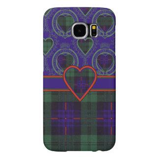 Kinmountの一族の格子縞のスコットランドのキルトのタータンチェック Samsung Galaxy S6 ケース