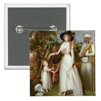 Kinross、彼女の娘およびJamadarの夫人グラハム、 5.1cm 正方形バッジ