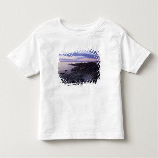 Kintyre、Argyll、スコットランドの日没の岩が多い海岸 トドラーTシャツ
