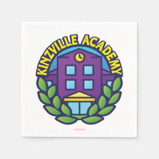 Kinzvilleアカデミーのロゴ スタンダードカクテルナプキン