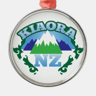 KIORAのキーウィニュージーランドこんにちは メタルオーナメント