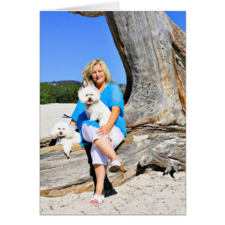 Kirby Shelby - Carmelのビーチのプードル カード