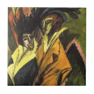 Kirchner: 通りの2人の女性、 タイル