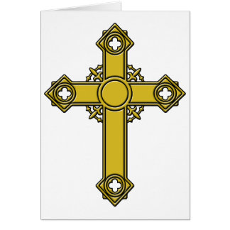 Kirishitanの十字のエンボス カード