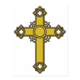 Kirishitanの十字のエンボス ポストカード