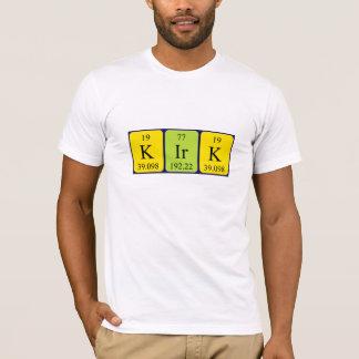 Kirkの周期表の名前のワイシャツ Tシャツ