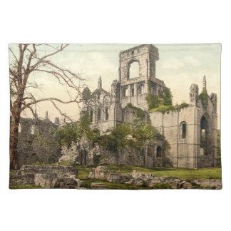 Kirkstallの大修道院、リーズ、ヨークシャ、イギリス ランチョンマット