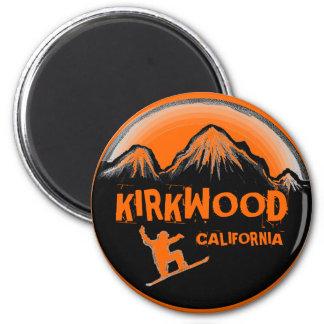 Kirkwoodカリフォルニアのオレンジスノーボーダーの磁石 マグネット