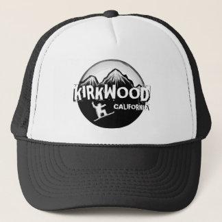 Kirkwoodカリフォルニアの白黒のスノーボーダーの帽子 キャップ