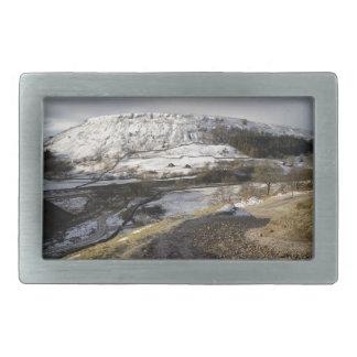Kisdonの丘の雪 長方形ベルトバックル