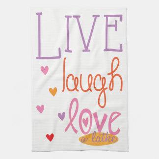 "Kitchen Towel ""Live Laugh Love a Latke Towel"" キッチンタオル"