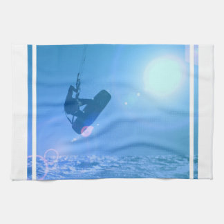 Kitesurfingの空気台所タオル キッチンタオル