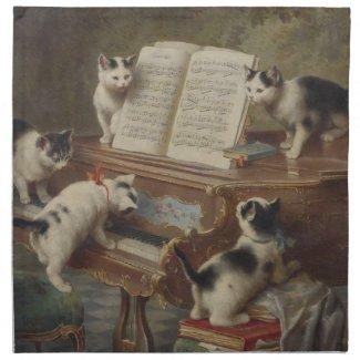 子猫とピアノ ナプキン