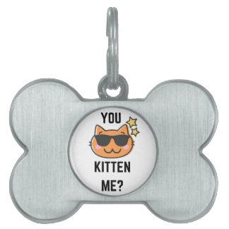 Kittin私ユーモアの絵のコレクションのデザイン ペットネームタグ