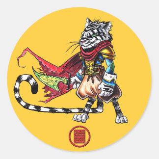 Kitty大尉のステッカー ラウンドシール