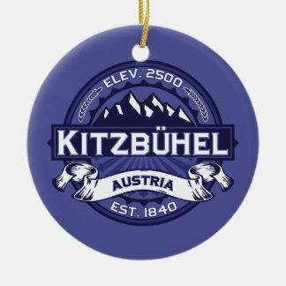 Kitzbühelのロゴの真夜中 セラミックオーナメント