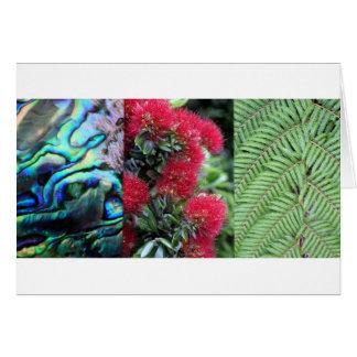 Kiwianaのシダのpauaのpohutukawa カード