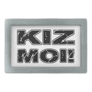 Kiz Moi! Kizombaのフランス語 長方形ベルトバックル