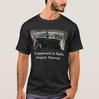 Kjeller空港へのアプローチ、ノルウェー Tシャツ