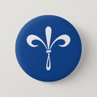 KKGの(紋章の)フラ・ダ・リ: 深い青 缶バッジ