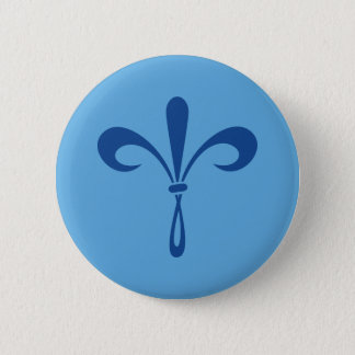 KKGの(紋章の)フラ・ダ・リ: 深い青 5.7CM 丸型バッジ