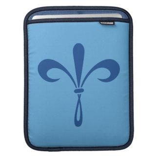 KKGの(紋章の)フラ・ダ・リ: 深い青 iPadスリーブ