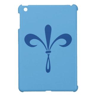 KKGの(紋章の)フラ・ダ・リ: 深い青 iPad MINI CASE
