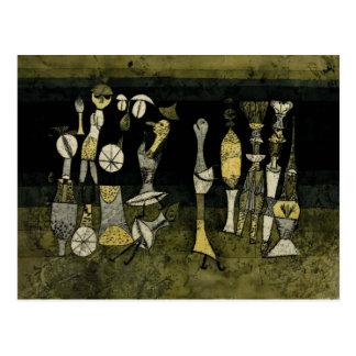 "Kleeのアートワーク、""喜劇"" ポストカード"